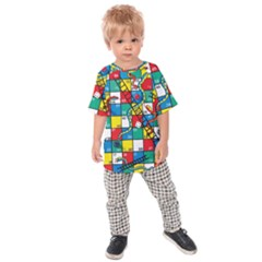 Snakes And Ladders Kids  Raglan Tee by Gogogo