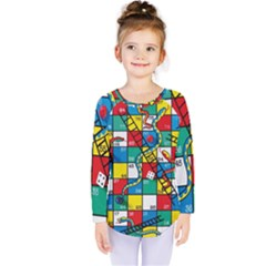 Snakes And Ladders Kids  Long Sleeve Tee by Gogogo