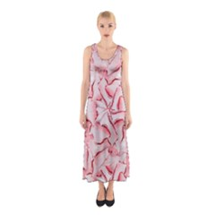 Intricate Texture Pattern Sleeveless Maxi Dress by dflcprintsclothing