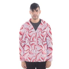 Intricate Texture Pattern Hooded Wind Breaker (men) by dflcprintsclothing