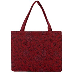 Red Roses Field Mini Tote Bag