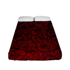 Red Roses Field Fitted Sheet (full/ Double Size)