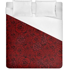 Red Roses Field Duvet Cover (california King Size)