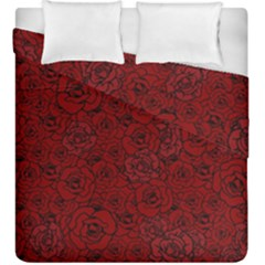 Red Roses Field Duvet Cover Double Side (king Size)