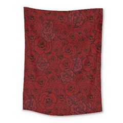 Red Roses Field Medium Tapestry