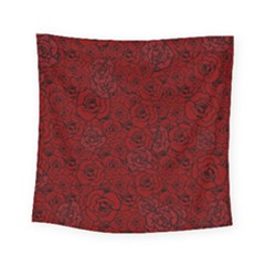 Red Roses Field Square Tapestry (small)