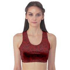 Red Roses Field Sports Bra