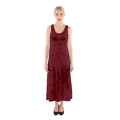 Red Roses Field Sleeveless Maxi Dress