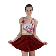 Red Roses Field Mini Skirt