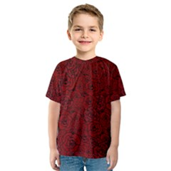 Red Roses Field Kids  Sport Mesh Tee