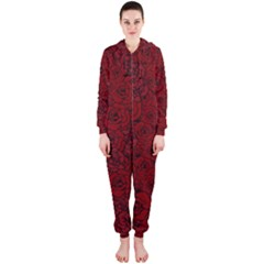 Red Roses Field Hooded Jumpsuit (ladies)