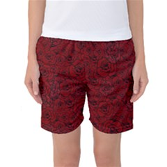 Red Roses Field Women s Basketball Shorts