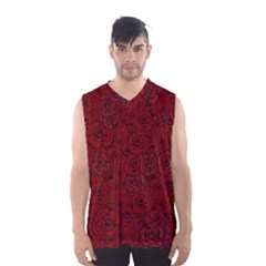 Red Roses Field Men s Basketball Tank Top