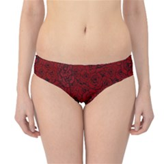 Red Roses Field Hipster Bikini Bottoms