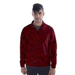 Red Roses Field Wind Breaker (men)