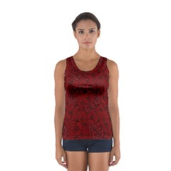 Red Roses Field Women s Sport Tank Top