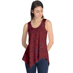 Red Roses Field Sleeveless Tunic