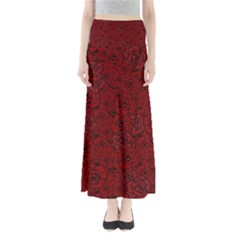 Red Roses Field Maxi Skirts