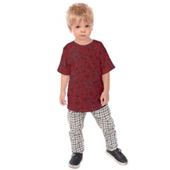 Red Roses Field Kids  Raglan Tee