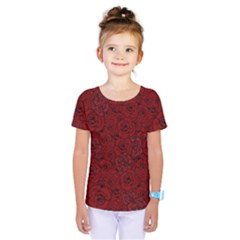 Red Roses Field Kids  One Piece Tee