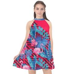 Sakura Halter Neckline Chiffon Dress  by Contest2284792