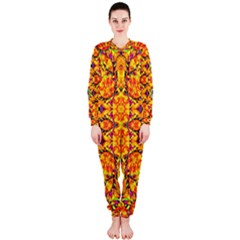 Colorful Vibrant Ornate Onepiece Jumpsuit (ladies)  by dflcprintsclothing