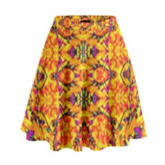 Colorful Vibrant Ornate High Waist Skirt by dflcprintsclothing
