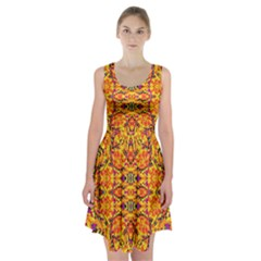 Colorful Vibrant Ornate Racerback Midi Dress by dflcprintsclothing