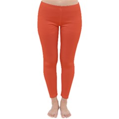 Trendy Basics   Trend Color Flame Classic Winter Leggings by tarastyle