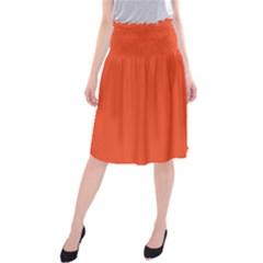 Trendy Basics - Trend Color FLAME Midi Beach Skirt by tarastyle