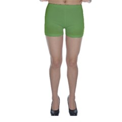 Trendy Basics - Trend Color GREENERY Skinny Shorts by tarastyle