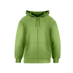 Trendy Basics   Trend Color Greenery Kids  Zipper Hoodie by tarastyle