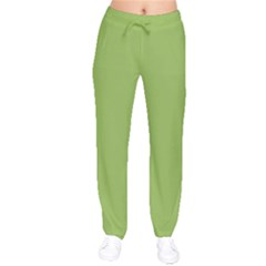 Trendy Basics - Trend Color GREENERY Drawstring Pants by tarastyle