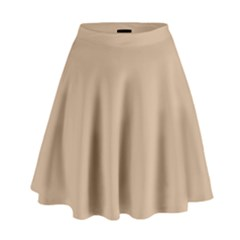Trendy Basics   Trend Color Hazelnut High Waist Skirt by tarastyle