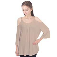 Trendy Basics   Trend Color Hazelnut Flutter Tees by tarastyle