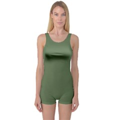 Trendy Basics   Trend Color Kale One Piece Boyleg Swimsuit by tarastyle