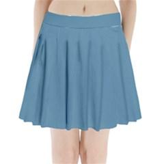 Trendy Basics   Trend Color Niagara Pleated Mini Skirt by tarastyle