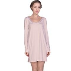Trendy Basics   Trend Color Pale Dogwood Long Sleeve Nightdress by tarastyle