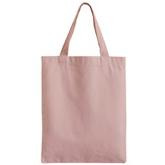 Trendy Basics   Trend Color Pale Dogwood Zipper Classic Tote Bag by tarastyle