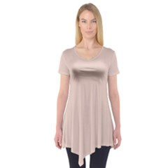 Trendy Basics   Trend Color Pale Dogwood Short Sleeve Tunic  by tarastyle