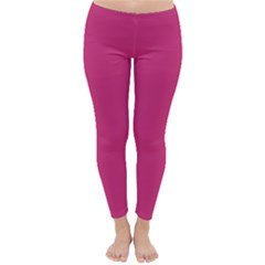 Trendy Basics - Trend Color PINK YARROW Classic Winter Leggings by tarastyle