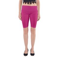 Trendy Basics   Trend Color Pink Yarrow Yoga Cropped Leggings by tarastyle