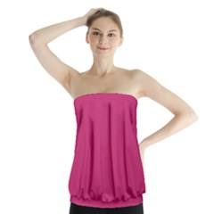 Trendy Basics   Trend Color Pink Yarrow Strapless Top by tarastyle