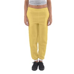 Trendy Basics   Trend Color Primerose Yellow Women s Jogger Sweatpants by tarastyle