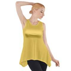 Trendy Basics   Trend Color Primerose Yellow Side Drop Tank Tunic by tarastyle