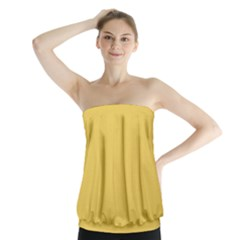 Trendy Basics   Trend Color Primerose Yellow Strapless Top by tarastyle