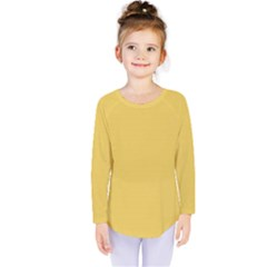Trendy Basics   Trend Color Primerose Yellow Kids  Long Sleeve Tee by tarastyle