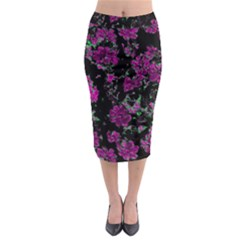 Floral Dreams 12 A Midi Pencil Skirt by MoreColorsinLife