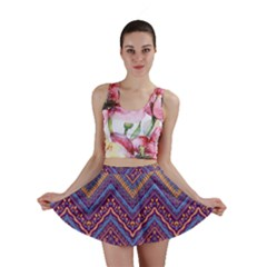Colorful Ethnic Background With Zig Zag Pattern Design Mini Skirt by TastefulDesigns