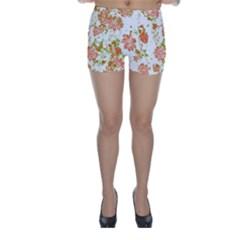 Floral Dreams 12 D Skinny Shorts